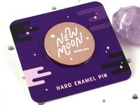 New Moon Enamel Pin
