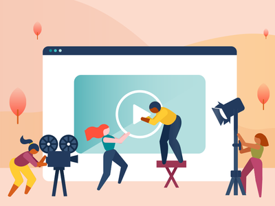 Community communities social video vector illustration