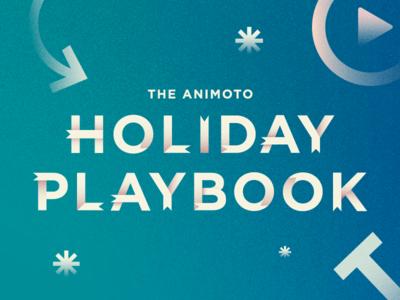 Holiday Playbook illustration type treatment type