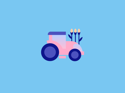 Lil Tractor illustration vector