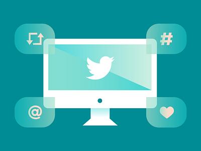 Tweet Tweet twitter illustration vector