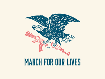 March For Our Lives line art branding illustration march for our lives poster