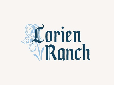 Lorien Ranch typography farm illustration logo