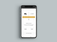 Sneaker Resale Mobile ux design ui