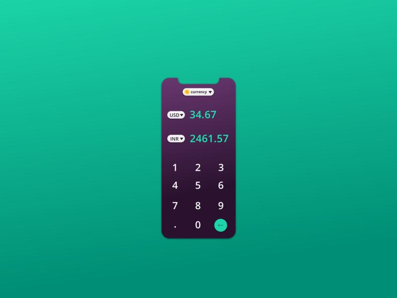 04: Calculator converter ui gradient calculator ui calculator 04 daily ui