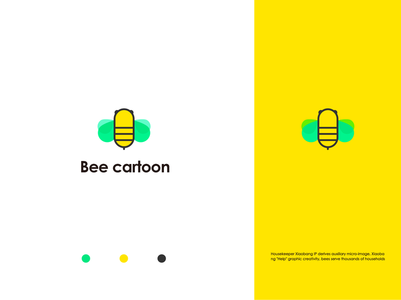 Bee cartoon 插图 ui 设计