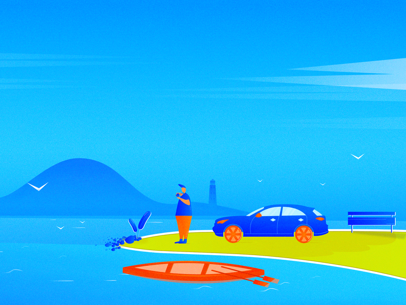 Self-driving travelling ui 插图 设计