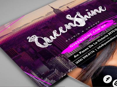 QueenShine Branding salon hair logo design identity advertising branding brand