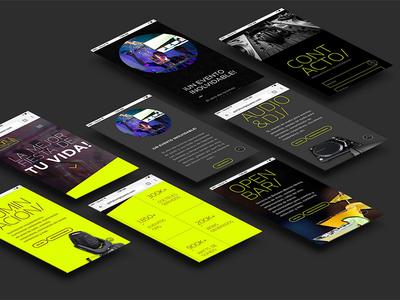 PartyLounge Website design web website