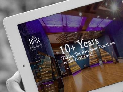 Web Design for Royal House Recording fullscreen slideshow design web website