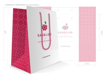 Packaging Design for Gadelier minimal brand branding design bag packaging