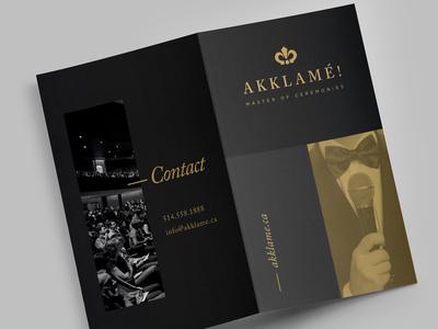 Akklamé! Branding gold logo formal crown luxury