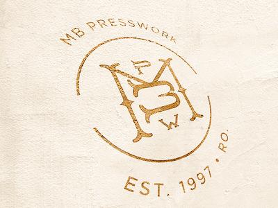 MB Presswork –– Branding brand branding stamp minimal classy design logo