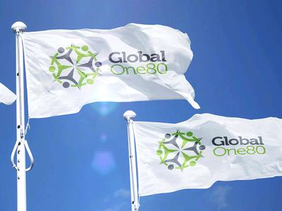 Branding for Global One 80 non-profit design logo
