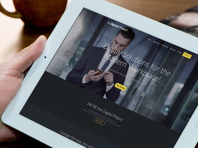 The Digital Project website design responsive web