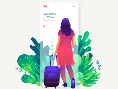 Travel girl girl travel illustration appscreen website illustration vector app screens splash screen app illustration ui ui illustration illustration
