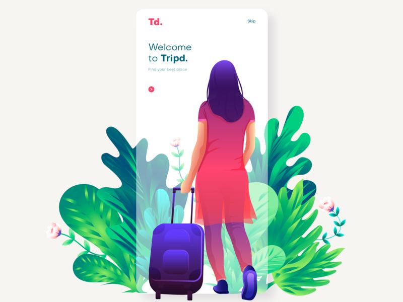Travel girl girl travel illustration appscreen website illustration vector app screens splash screen app illustration ui ui illustration illustration