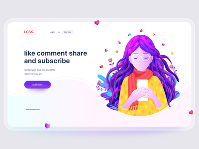 Social media page illustration hero image illustration phone user women girl social media playful illustration app illustration home page illustration ui vector poster landing page illustration ui illustration illustration