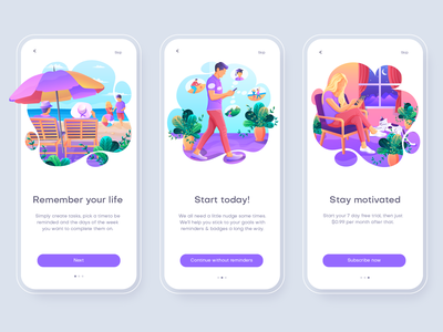 Diem tour app Illustrations human people illustration trendy illustration home page illustration onboarding screen app illustration vector ui ui illustration illustration onboarding ui