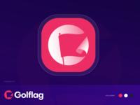 G + Flag ( Golflag ) Logo circle logo brand identity logo negative space logo negative space conceptual logo creative logo iconic logo playful logo g brand identity branding golf logo icon logo symbol logo mark flag logo g logo logo
