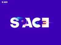 SPACE concept logo logo idea creative logo conceptual logo negative space logo negative space branding rocket logo planet logo space logo modern logo planet typo typo logo typography color vector logo