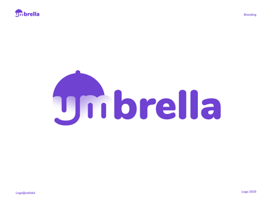 umbrella logo wordmark logo brand mark typography logo creative typo logo umbrella logo vector logo simple logo branding typography art creative logo conceptual logo typo logo negative space negative space logo logo