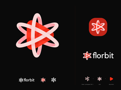florbit logo for entertainment site 3d logo entertainment logo brand identity brand playful logo icon f o logo video logo play button logo flim logo orbit logo flower logo logo symbol logo mark logo design branding logo