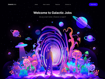 Planet illustration outer space planet art digital illustration hero section home page homepage illustration website illustration app illustration landing page illustration ui illustration illustration