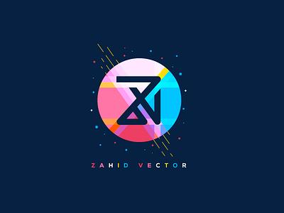 ZV LOGO  z art trending art branding colorful logo symbol mark icon zahid vector zv logo zv logo
