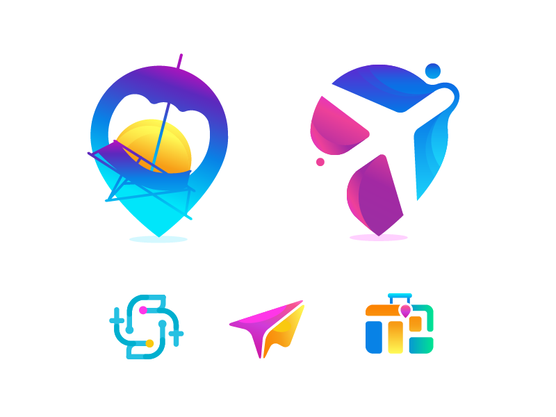 travel logo exploration by zahidul dribbble