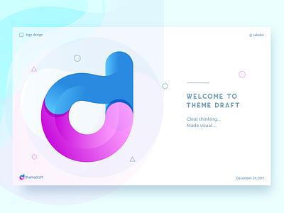 Theme Draft logo color logo gradient logo branding d logo logo mark td