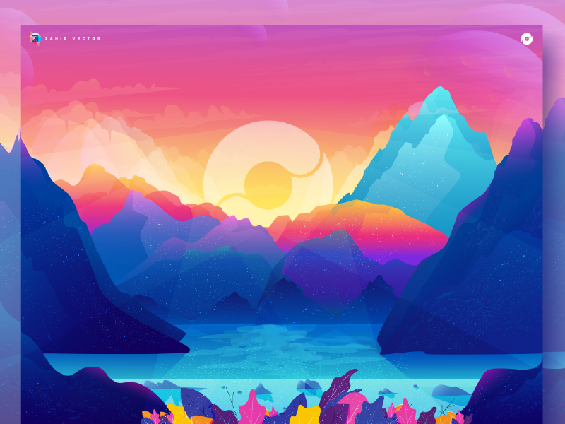 Wallpaper of Codesigned wallpaper sky rock nature mountain illustration gradient color illustration