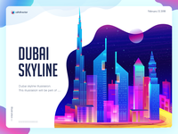 Dubai Skyline Illustration