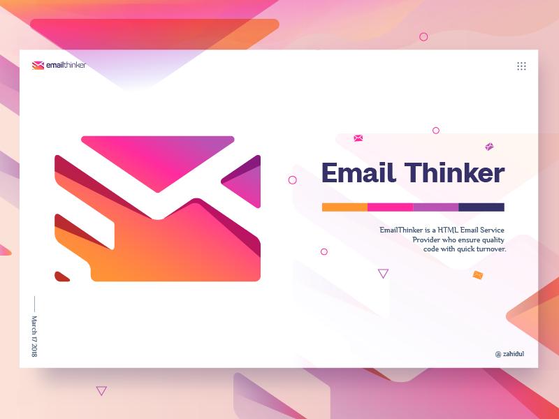 Email thinker logo web header poster e-mail logo et logo branding logo symbol logo mark logo