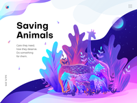 Saving Animals Illustration