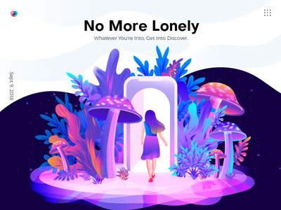Apps Illustration app illustration landing page illustration vector art ui illustration hero image banner mushroom people leaf trend home page illustration illustration