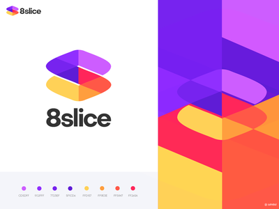 8 Slice logo design logo trend clean logo conceptual logo creative logo bolder color logo multiple color logo s icon s s mark bolder color geometric logo s logo logo mark web 2.0 logo logo symbol color logo vibrant color logo branding logo