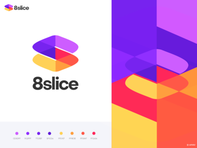 8 Slice logo design