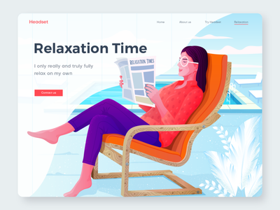 Relaxation illustration app illustraion women web page illustration illustration art illustrator