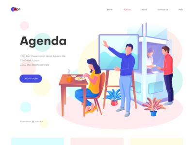 Agenda page illustration