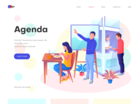 Agenda page illustration peoples humans app illustration agenda web page illustration hero image illustration home page illustration landing page illustration ui illustration illustration