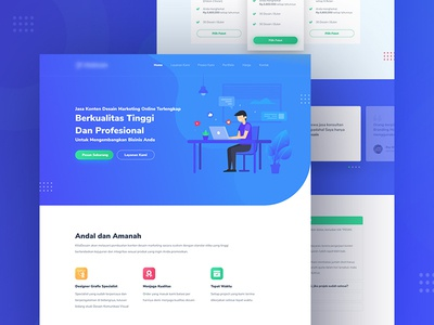 Content Marketing Design - Landing Page