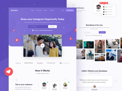 Socialaza - Landing page