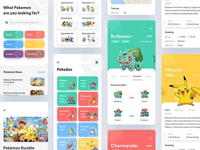 Pokedex App ux android pokedex pokemon simple minimal clean design ios iphone ui app