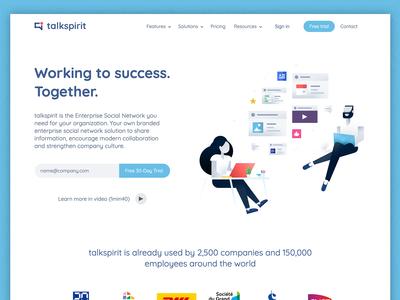 talkspirit New Landing Page