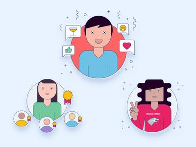 Human Resources illustrations set
