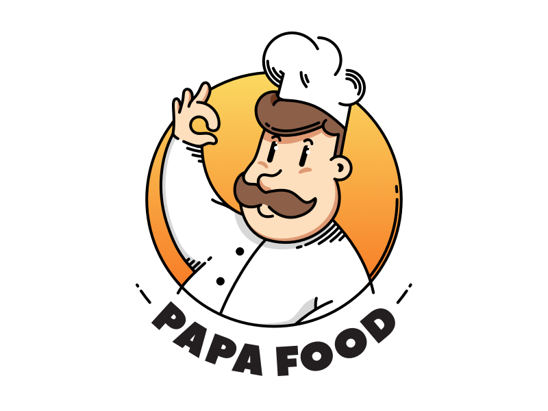 Papa Food food logo illustration cook