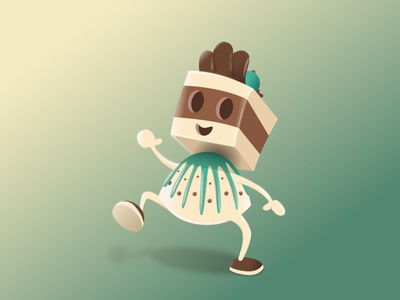 Chocolate Dreams truffle nougat chocolate vectorillustration vector character