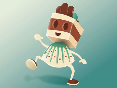 Chocolate Dream | COLOR CORRECTED wip color balance character vector vectorillustration food chocolate nougat truffle