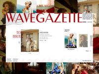 WAVEGAZETTE: fashion e-magazine concept (unofficial)